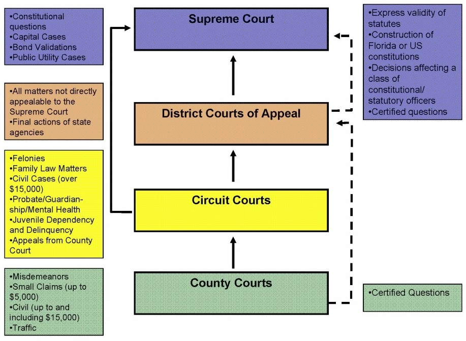 contrast/comparison of state and federal court systems essay Th usa operates on a dual court system, which means that there are courts at the  state level and the federal level this system dates back to the colonial times.